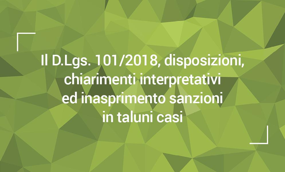 GDPR 6792016 - D.LGS. 1012018